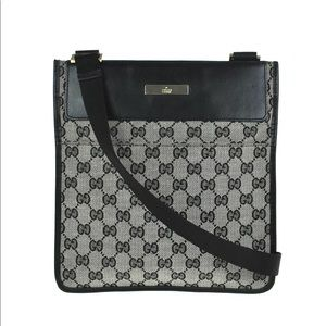Authentic Gucci monogram canvas unisex crossbody